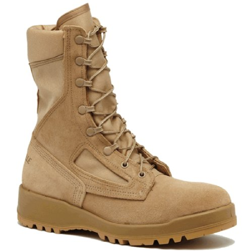 Belleville 390DES Men's 8-in Combat Tactical Boot Tan 12 M US