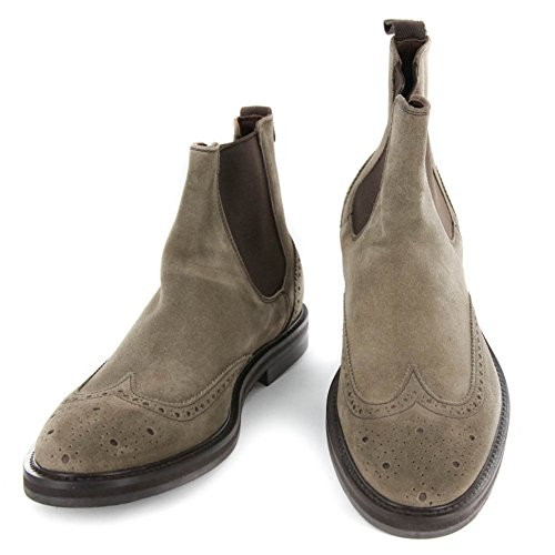 New Finamore Napoli Brown Suede Boots 7/6