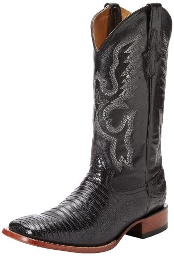 Ferrini Men's Genuine Lizard S-Toe Western Boot,Black,10.5 EE US