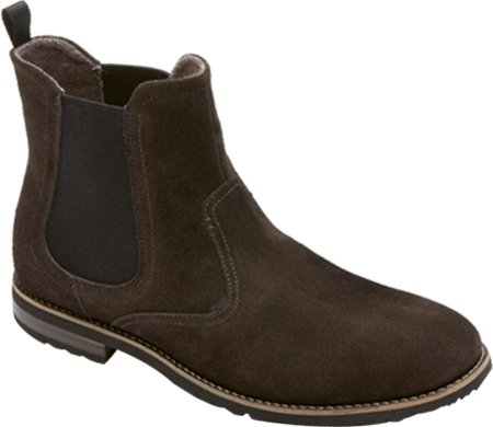 Rockport Men's Ledge Hill Too Chelsea Boot Dark Bitter Chocolate Suede 7 W US