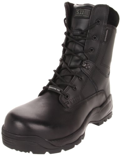 5.11 Men's A.T.A.C. SHIELD 8″ Side Zip Certified Safety Toe Boot,Black,6 D(M) US