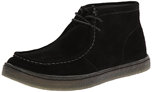 Hush Puppies Men's Aquaice Walla Chukka Boot, Black Suede, 8.5 W US