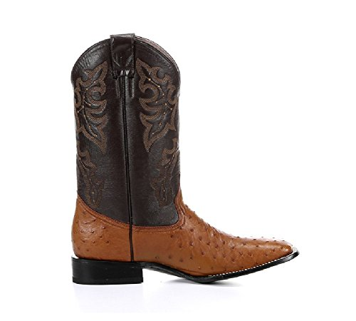 New Circle G By Corral Men's Econoline Ostrich Square Toe Western Boot Cognac 11