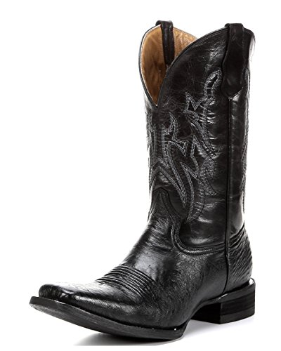 Corral Circle G Men's Smooth Quill Ostrich Black Cowboy Boot