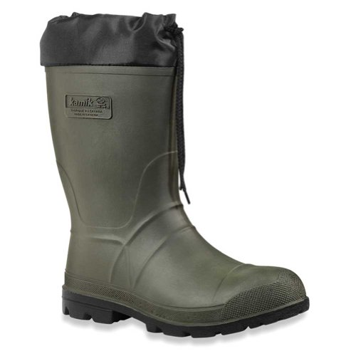 Kamik Men's Hunter Insulated Winter Boot, Khaki/Black Sole, 12 M US