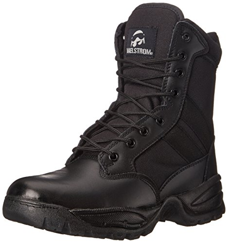 Maelstrom Men's Tac Force 8 Inch Zipper Tactical Boot, Black, 7.5 M US