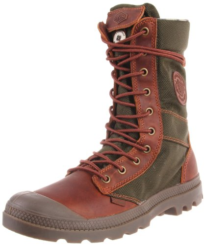 Palladium Men's Pampa Tactical Boot,Brown/Olive,10.5 M US