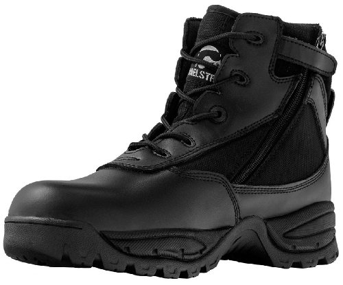 "Maelstrom(R) PATROL 6"" Black Tactical Duty Work Boots with Zipper – P1360Z Size 7.5 Medium"