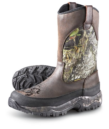 Guide Gear Men's Hunting Pull-On Boots 1000 Gram Thinsulate Waterproof, MOSSY OAK, 13M
