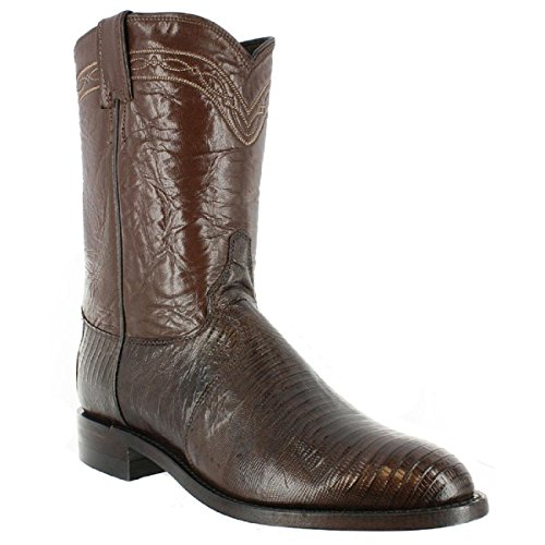 Justin Western Boots Mens Iguana Lizard Round Toe 12 D Chocolate 3114