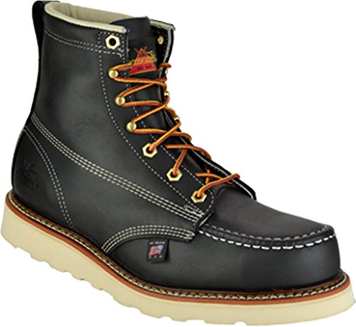 Thorogood Men's American Heritage Safety Toe Lace-Up Boot, Black, 10 D US