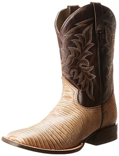 Roper Men's Exotica Square Western Boot,Tan/Brown,10 D US