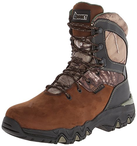 Rocky Men's 8 Inch Bigfoot 103 Snow Boot,Brown,11.5 XW US