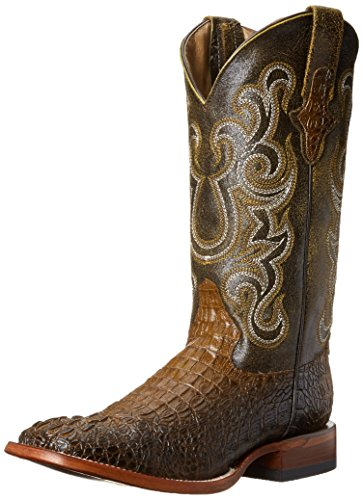 Ferrini Men's Print Caiman CH Western Boot, Chocolate, 9.5 D US