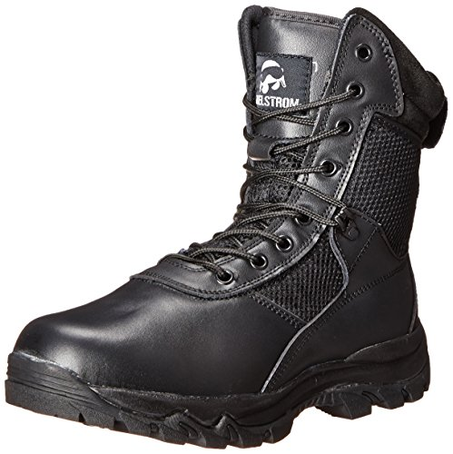 Maelstrom Men's Landship 8 Inch Zipper Tactical Boot, Black, 13 M US