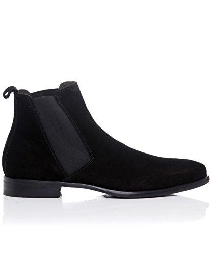 Joss Suede Chelsea Boots Black US10.5 / UK9.5
