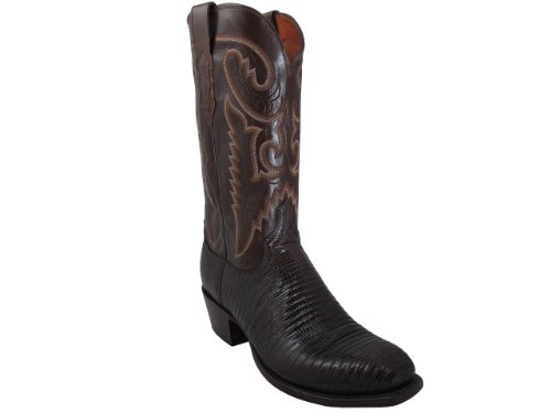 Mens Lucchese T6193.S4 Cigar Lizard/Antique Brown Buffalo Custom Boot, Size 11.5 D