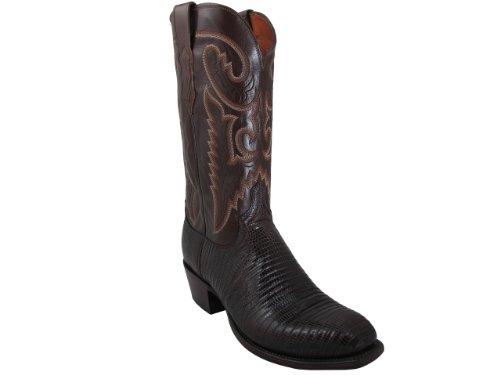 Mens Lucchese T6193.S4 Cigar Lizard/Antique Brown Buffalo Custom Boot, Size 11.5 D