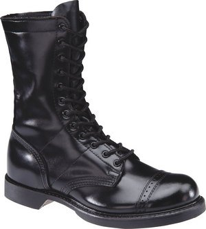 Men's HH Brown 10″ Leather Jump Boots, BLACK, 9.5EE