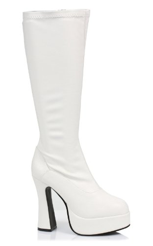 Ellie Shoes Women's ChaCha Adult Boots 6 White