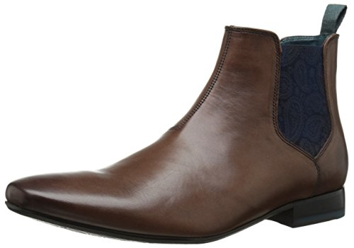 Ted Baker Men's Hourb Chelsea Boot, Brown Leather, 9 M US