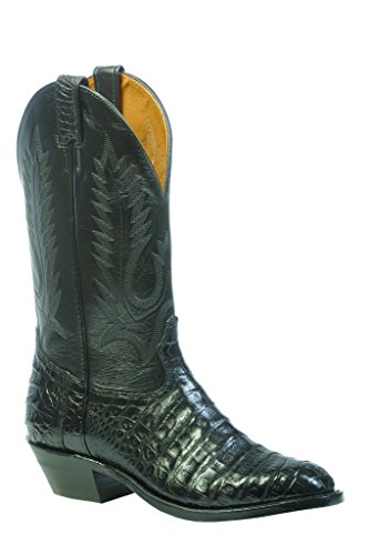Boulet Men's Caiman Belly Cowboy Boot Round Toe Black US