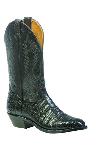 Boulet Men's Caiman Belly Cowboy Boot Round Toe Black US