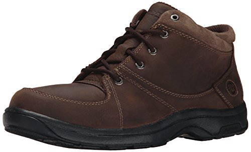 Dunham by New Balance Men's Addison Chukka Boot, Dark Brown, 11.5 6E US