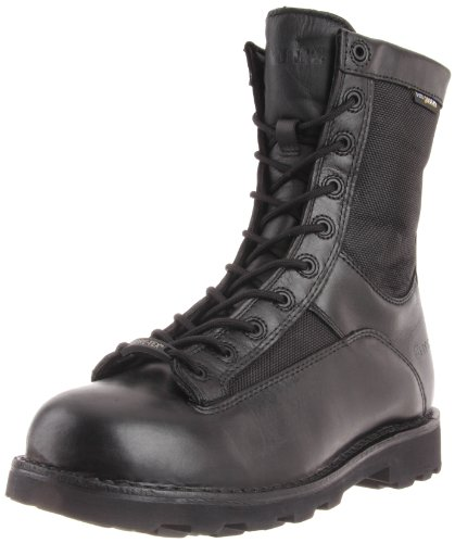 Bates Men's Defender 8 Inch Lace To Toe WP Waterproof Boot, Black, 8.5 M US