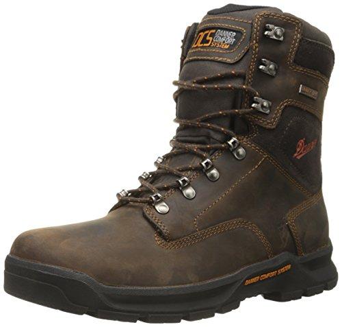 Danner Men's Crafter 8 Inch Plain Toe Work Boot, Brown, 11 EE US