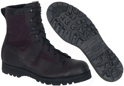 Wellco Infantry Combat Boots, Black Leather, Waterproof Goretex, Made in USA! (12.5 Regular)