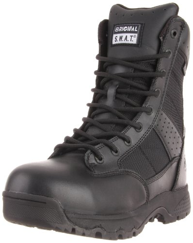 Original S.W.A.T. Men's Metro 9 Inch Waterproof Side-zip Safety Tactical Boot, Black, 6.5 D US