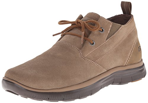 Skechers USA Men's Hinton Franken Chukka Boot, Desert, 9.5 M US