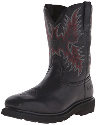 Ariat Men's Sierra Wide Square Toe Steel Toe Work Boot,  Black,  10.5 D US