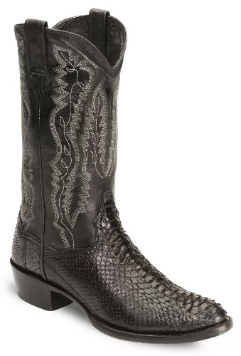 Dan Post Men's Omaha Python Cowboy Boot Round Toe Black 10 D(M) US