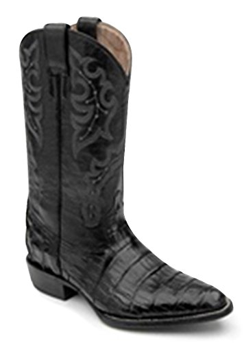 Corral Men's L5023 Econo Line Belly Tail Caiman Black Cowboy Boots 9.5 D