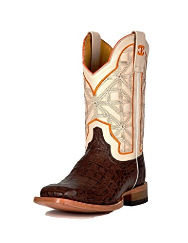 Cinch Western Boots Mens Edge Caiman Print 13 D Chocolate CEM514