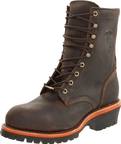 Chippewa Men's Apache Steel Toe Logger Boot,Chocolate,9.5 D US