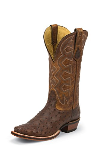 Nocona Western Boots Mens Pullup Full Quill Ostrich 9 D Sienna MD5103