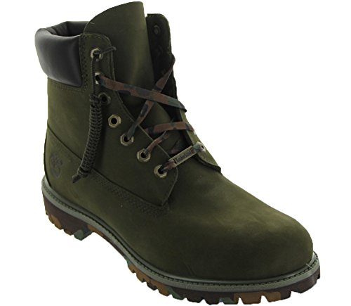 Timberland Men's Icon 6 Inch Premium Snow Boot, Olive Nubuck/Camo Outsole, 10 M US