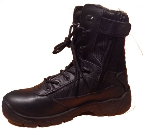C9552 – Rhino 8 inch Tactical Boot with Alternative Side Zip Black 12