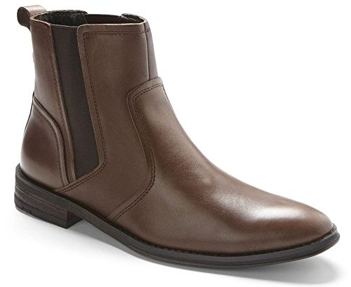 Vionic Declan Mens Leather Boot Dark Brown – 10