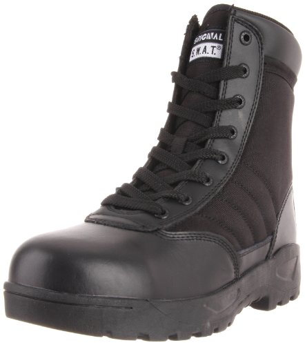 Original S.W.A.T. Men's Classic 9 Inch Side-zip Safety Plus Tactical Boot, Black, 11 2E US