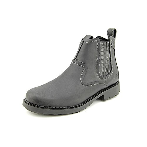 Skechers Pemex Setro Mens Leather Chelsea Boots / Shoes – Black-BLACK-12