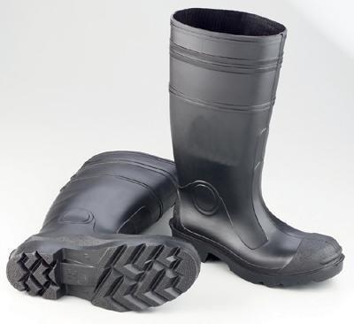 Radnor Black 16″ Economy PVC Plain Toe Boot – Size: 7