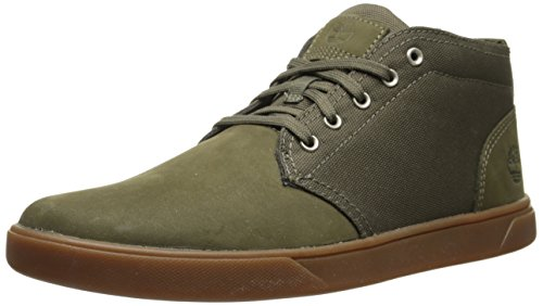 Timberland Men's Groveton Leather Fabric Chukka Snow Boot, Army Green Nubuck/Canvas, 9 M US