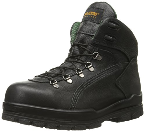Wolverine Men's Tacoma Hiker 6 Inch Steel Toe EH Work Boot, Black, 13 M US