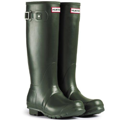 Mens Hunter Original Neoprene Winter Snow Festival Rain Wellington – Dark Olive – 11