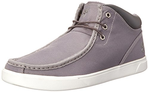 Timberland Men's Groveton Moc Toe Fabric Chukka, Dark Grey Canvas, 8.5 M US