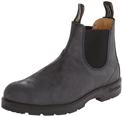 Blundstone Men's 587 Round Toe Chelsea Boot,Rustic Black,6 UK/7 M US